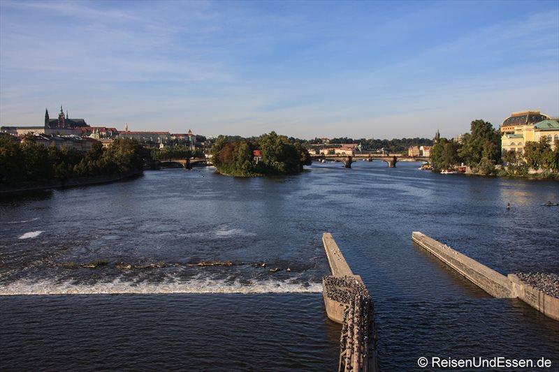Blick von der Jiraskuv Brücke