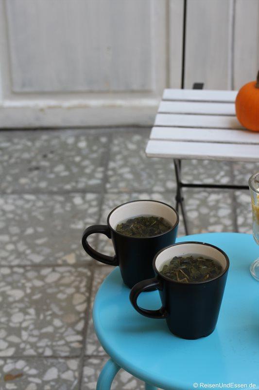 Grüner Tee in Prag