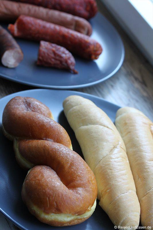 Brot und Wurst in Prag
