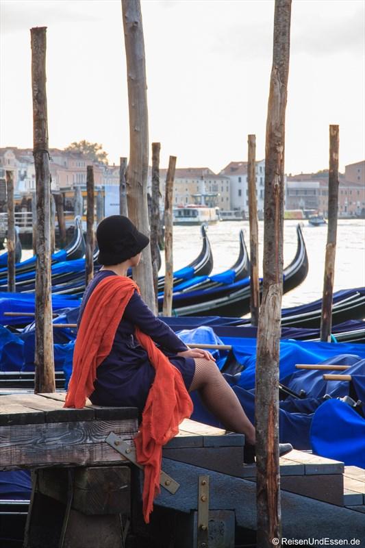 Fotoshooting in Venedig am frühen Morgen