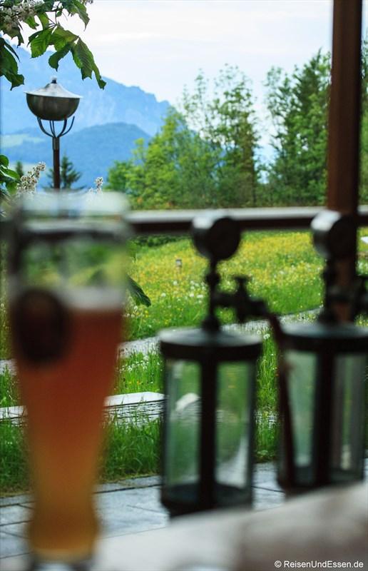Ausblick von der Bayernstube im Intercontinental Berchtesgaden