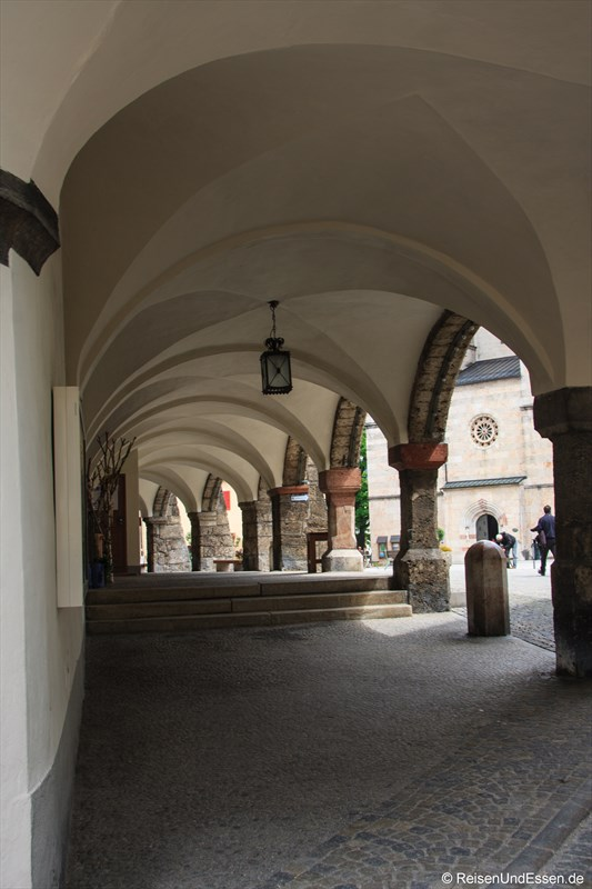 Arkaden beim Schloßplatz in Berchtesgaden