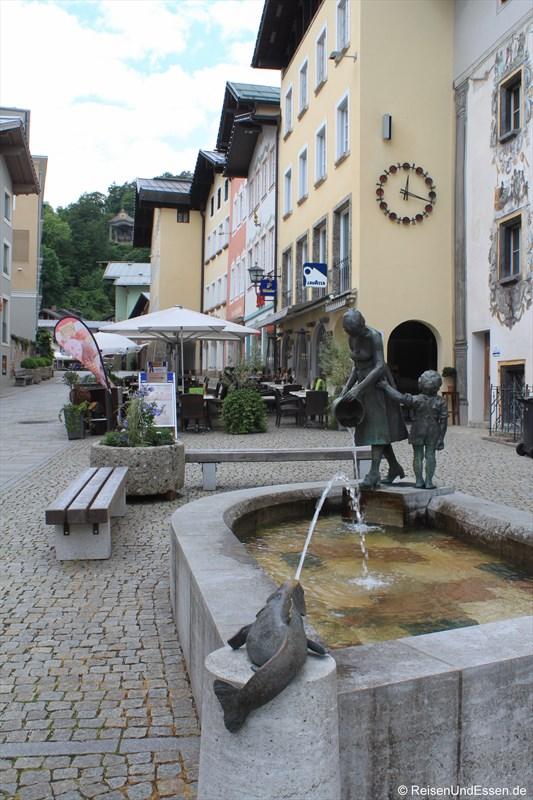 Brunnen am Marktplatz in Berchtesgaden