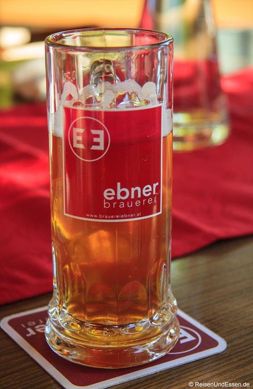 Selbst gebrautes Bier beim Ebner