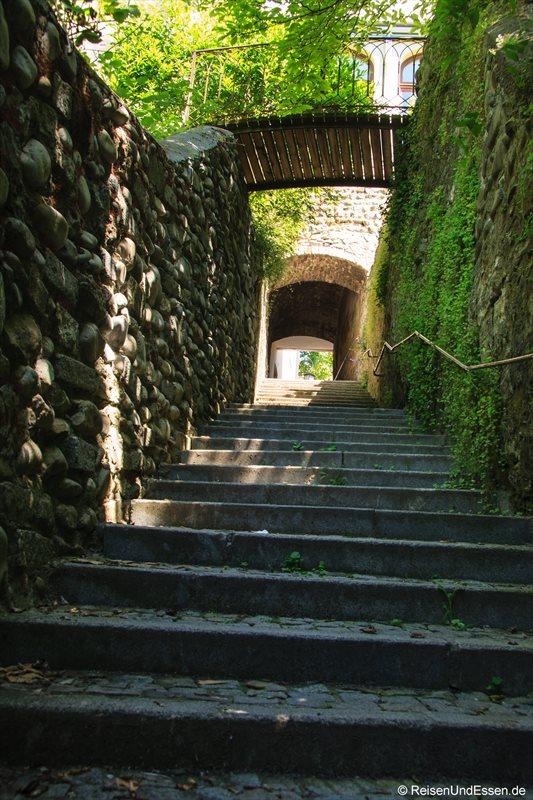 Stufen in die Oberstadt in Bregenz