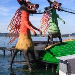 Häuser, Architektur, Pfänder, Seebühne und Cro in Bregenz