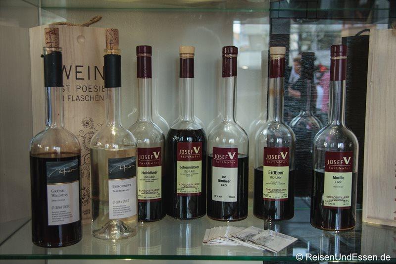 Hochprozentiges in der Weinstube Kinz in Bregenz