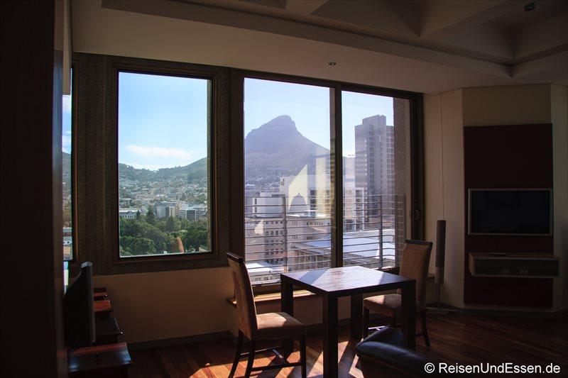 Blick von der Ferienwohnung in Kapstadt auf Lions Head