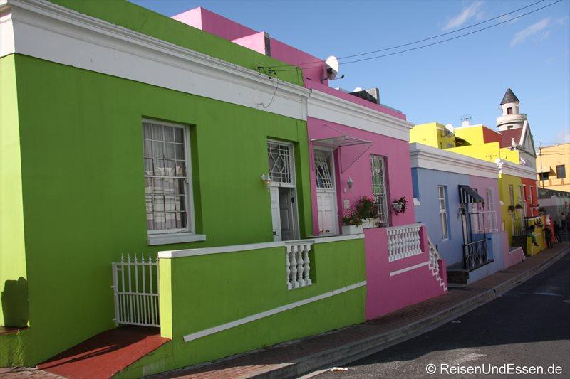 Häuser In touristenmagnet waterfront und bunte häuser in bo kaap