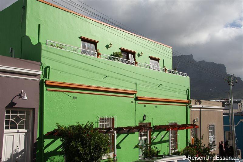 Bunte Häuser im Stadtteil Bo-Kaap in Kapstadt
