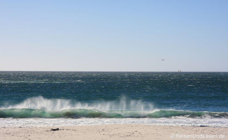 Das Meer, die Wellen und der Strand bei Camps Bay