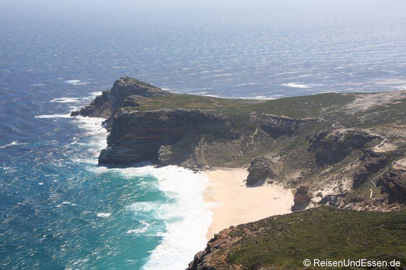 Blick auf eine Bucht am Kap der Guten Hoffnungen