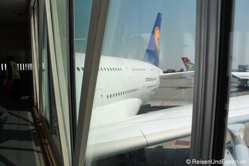 Aussteigen aus A380 in Johannesburg von LH572