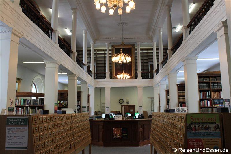 Blick in die Nationalbibliothek von Südafrika in Kapstadt