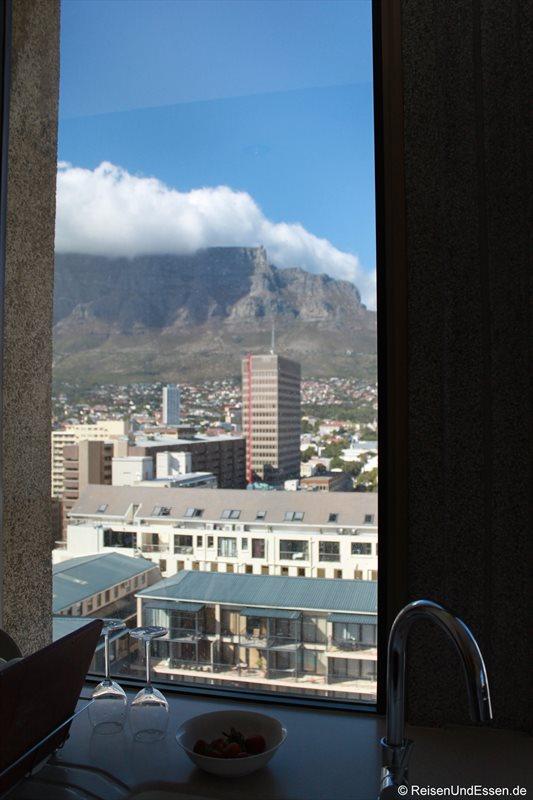 Blick von der Küche auf den Tafelberg