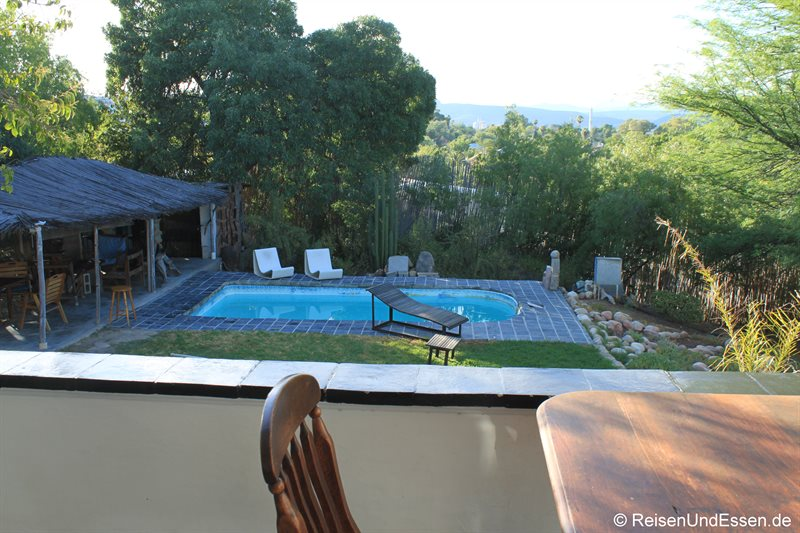 Swimmingpool in der Lodge Karoo Soul