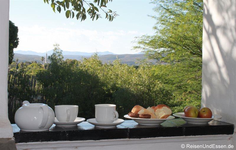 Frühstück in der Loudge Karoo Soul