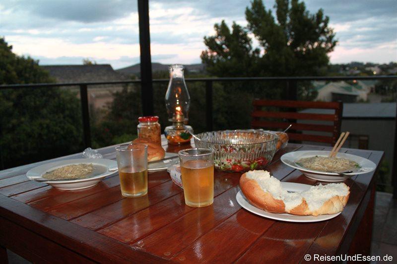 Unser Abendessen im Miles Guest House