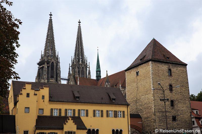 Alter Kornmarkt und im Hintergrund der Dom