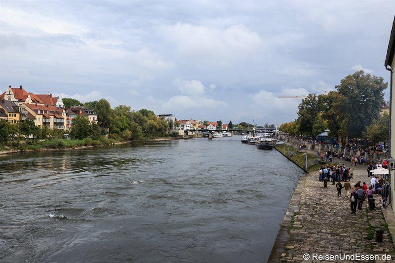 Blick auf die Donau von der steinernen Brücke