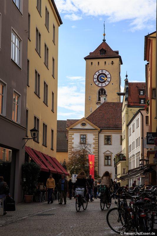 Blick von der Goliathstrasse Richtung Altes Rathaus
