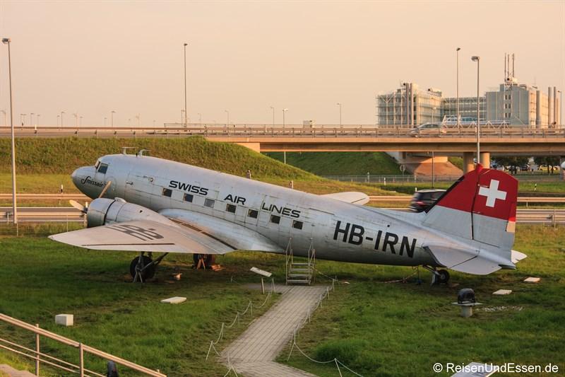 Douglas DC-3 beim Besucherpark Flughafen München