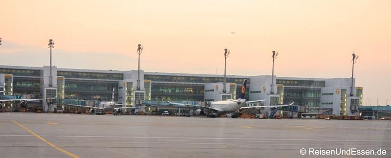 Flugzeuge am Terminal 2 am Flughafen München