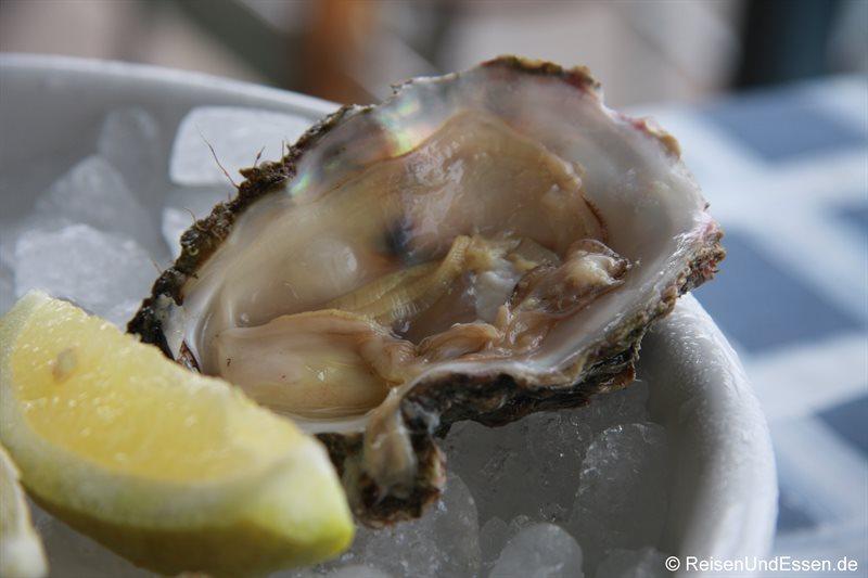 Frische Austern in der Waterfront von Knysna