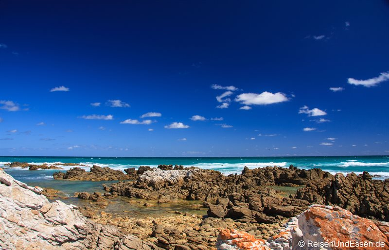 Blick auf das Meer am Cap Agulhas