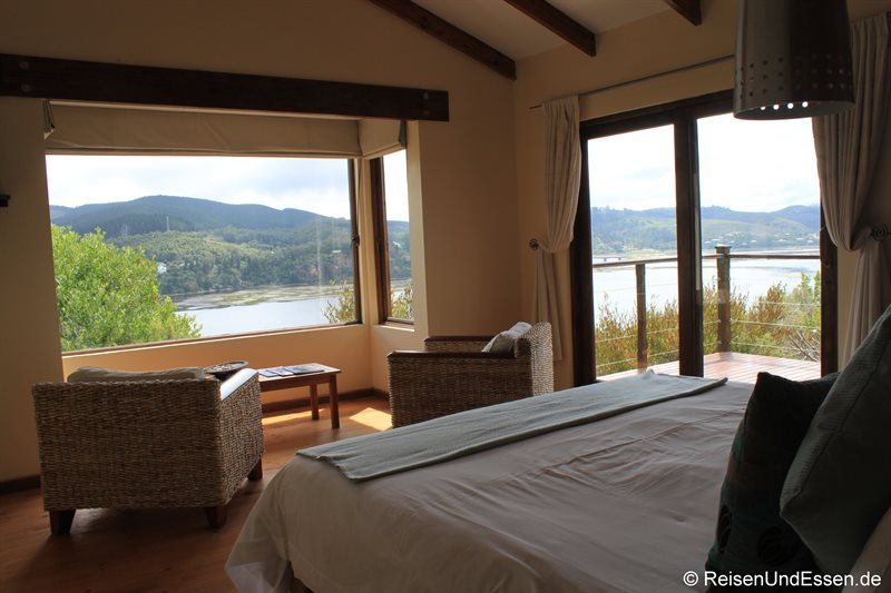 Lagoon Suite mit Ausblick in der Elephant Hide of Knysna Guest Lodge