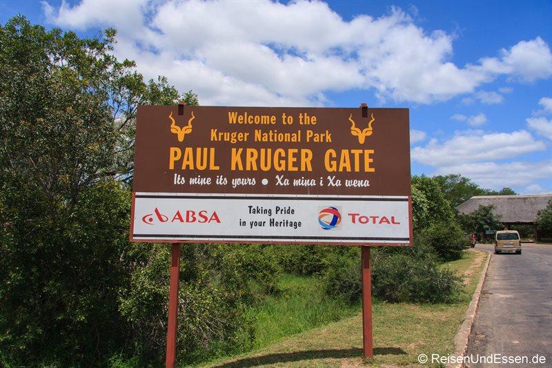 Einfahrt zum Krüger Nationalpark
