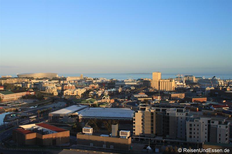 Aussicht auf die Waterfront vom Westin Cape Town
