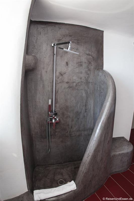 Dusche in der White Pearl Villa