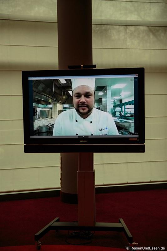 Videokonferenz mit dem Chefkoch
