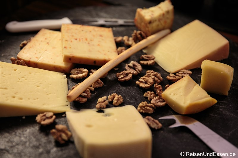 Auswahl an Käse