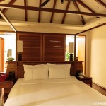 Blick in Schlafzimmer in der Suite
