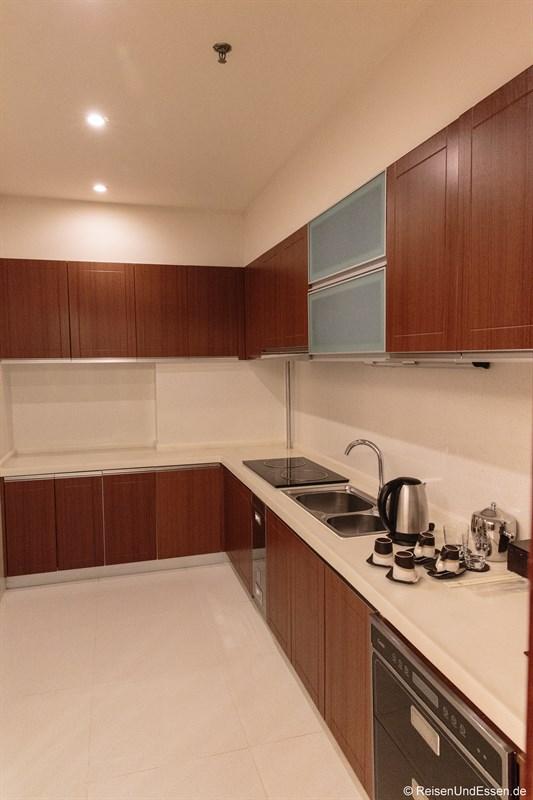 Küche in der Suite