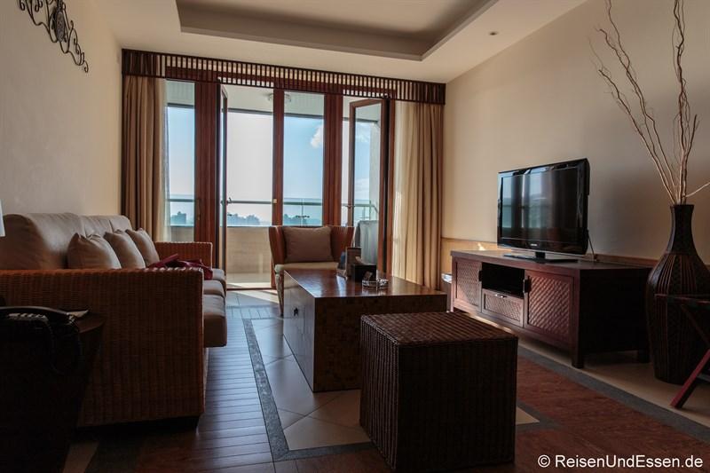 Wohnbereich im Serenity Coast all Suite Resort Sanya