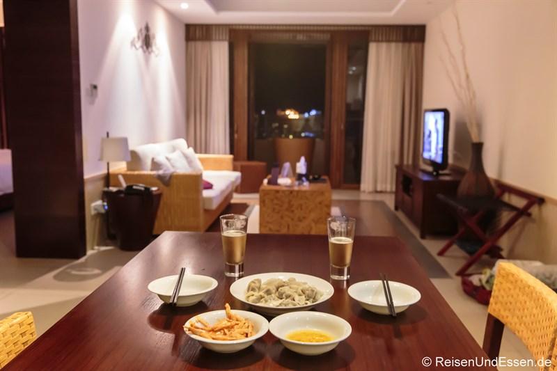 Unser Abendessen in der Suite