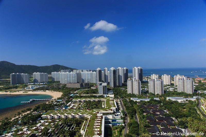 Blick in die Bucht von Xiao Dadonghai
