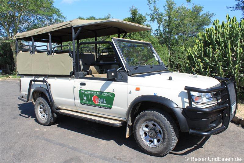 Geländewagen für Pirschfahrten im Krüger Nationalpark