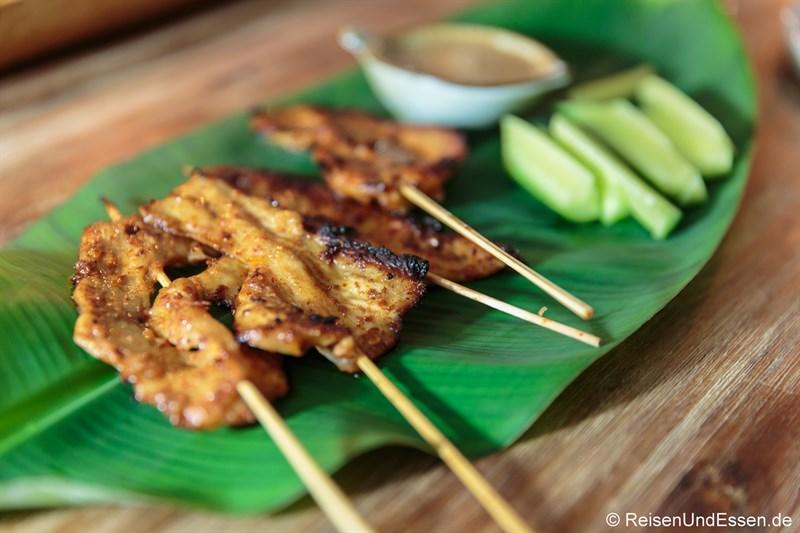 Hähnchenfleisch nach Thai-Art