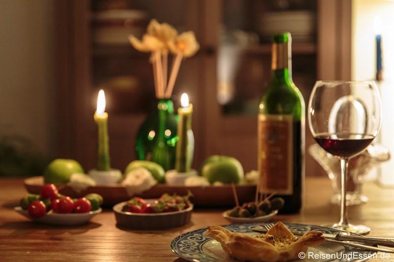 Tisch zum Silvesteressen 2014