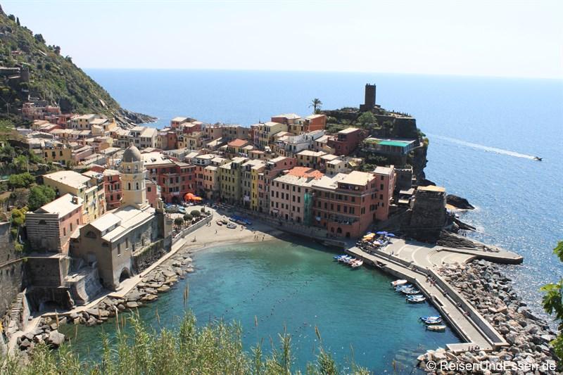 Blick auf Vernazza in den Cinque Terre