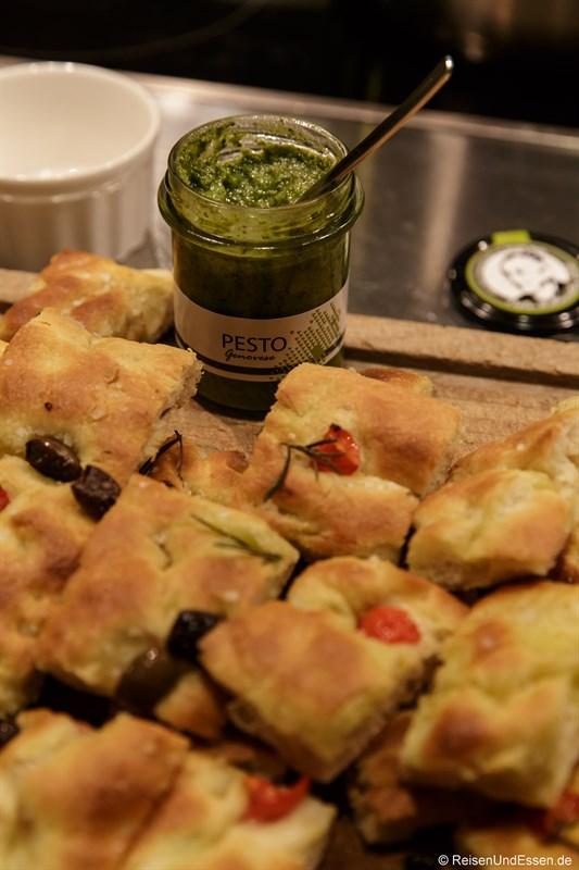 Focaccia und Pesto aus Ligurien