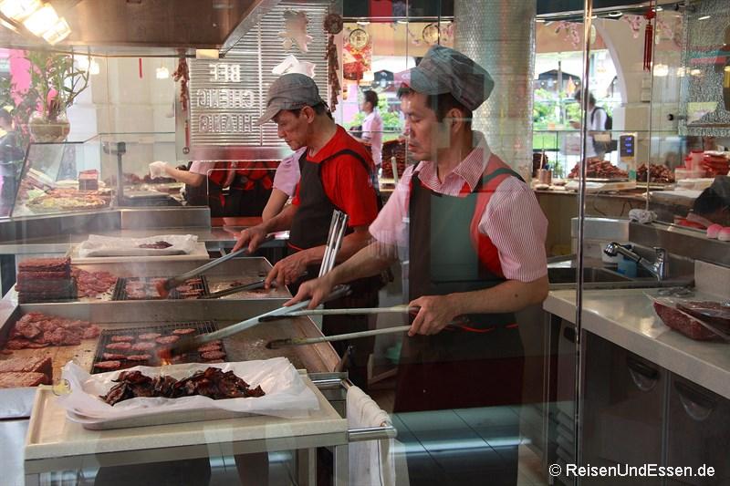 Fleisch vom Grill in Chinatown