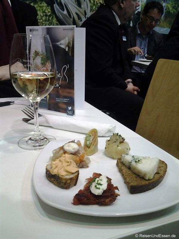 Tapas und Wein bei Rheinland-Pfalz