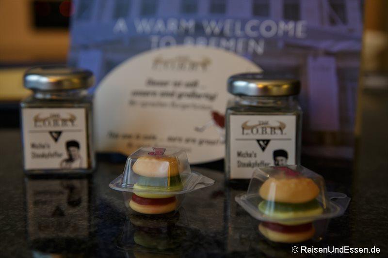 Willkommenspräsent auf dem Zimmer Radisson Blu Bremen