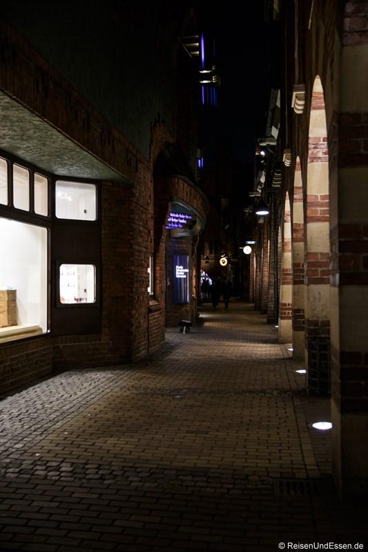 Böttcherstrasse bei Nacht