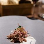 Geräucherter Schweineschinken mit Krautsalat und Dijon Dressing